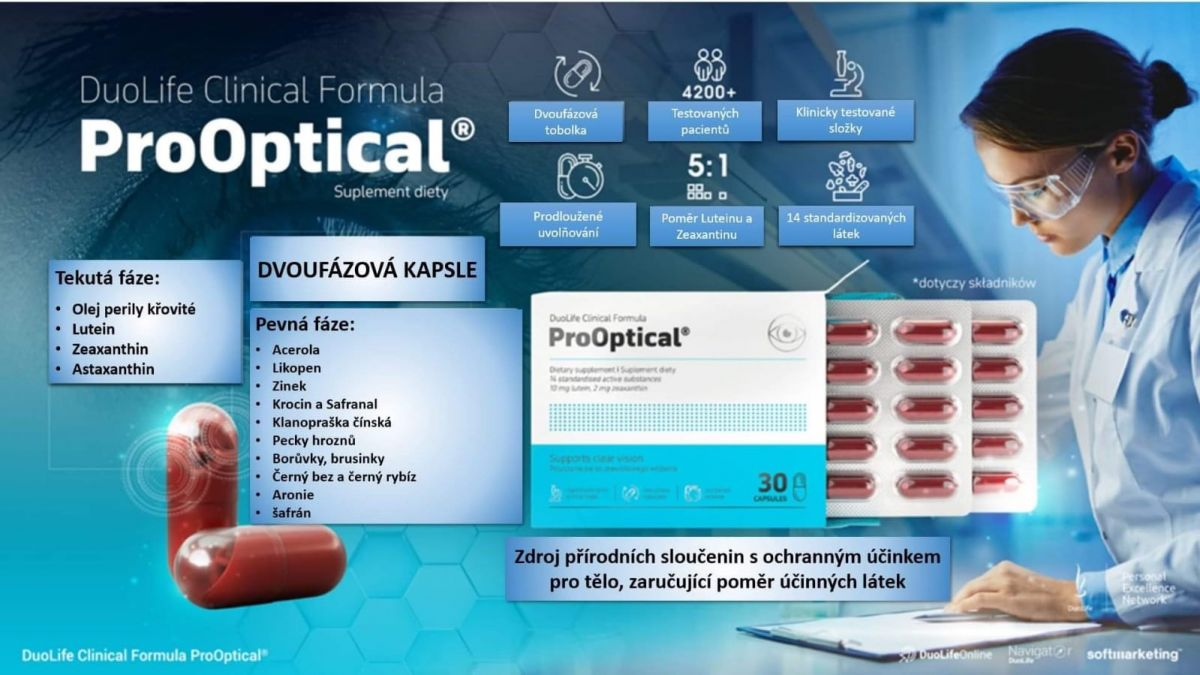 DuoLife Clinical Formula ProOptical 30 kapslí