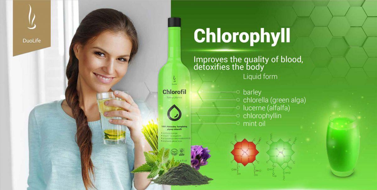 DuoLife Chlorofil 750ml | tekutý chlorofyl